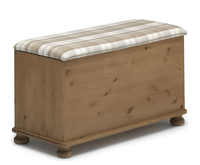 Chests of drawers  - Andria Fabric Top Ottoman check taupe