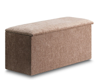 Chests  - Aurela Faux Leather and Suede Ottoman faux leather black
