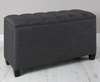 Burgundy Upholstered Ottoman gem granite ebony legs
