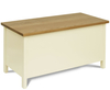Creswell Aspen Painted Wooden Ottoman painted finish with windsor oak top