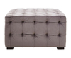 Chests Culen Velvet Button Footstool grey