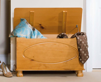 Chests  - Darlin Solid Pine Ottoman