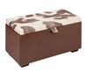 Fortuna Choco and Cream Faux Cow Hide Boutique Ottoman medium ottoman choco & cream faux cow hide lid