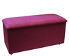 Hyde Park Upholstered Luxury Ottoman small fabric ottoman odessa berry