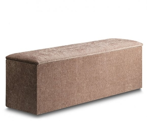 Jenny Wool Effect Oatmeal Upholstered Ottoman *Special Offer* wool effect oatmeal