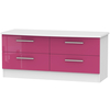 Kati Pink Girls 4 Drawer Bed Box white