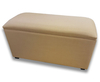 Kingsley Large Gem Oatmeal Upholstered Ottoman *Special Offer* gem oatmeal