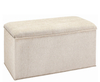 Knightsbridge Upholstered Ottoman her blue/yellow