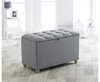 Chests Kota Grey Upholstered Blanket Box small blanket box