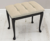 Loire Upholstered Stool faux leather black ebony legs