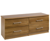 Marcello Walnut 4 Drawer Bed Box Chest
