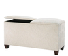 Normandy Upholstered Twin Lid Ottoman gem granite ebony legs