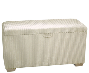 Chests  - Rochelle Soft Touch Upholstered Ottoman medium ottoman jumbo natural light wooden feet