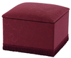 Room Tidy Faux Leather and Suede Ottoman faux suede chocolate