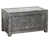 Chests Sora Antique Silver Embossed Ottoman