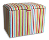 Chests Striped Upholstered Toy Box small toy box striped paintbox striped fabric