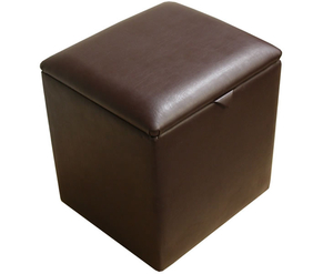Toby Faux Leather and Suede Storage Box faux leather charolais