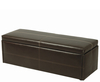 Toni Large Brown Faux Leather Ottoman assembly - no thank you