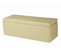 Chests  - Toni Large Cream Faux Leather Ottoman assembly - no thank you