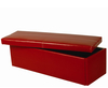 Toni Large Red Faux Leather Ottoman assembly - no thank you