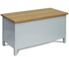 Tupton Dolphine Painted Wooden Ottoman painted finish with windsor oak top