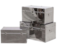 Chests of drawers  - Verbier Steel Set of 3 Travel Trunks