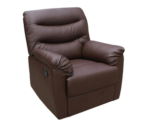 Bridford Brown Faux Leather Manual Recliner