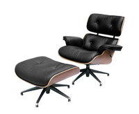 Burton Black Leather Swivel Chair *Special Offer* chair and stool