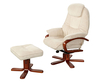 Caprice Beige Chenille Fabric Swivel Chair and Foot Stool chair and stool