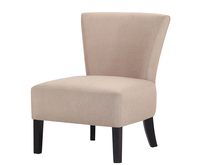 Chairs  - Crawley Beige Linen Fabric Bedroom Chair