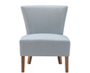 Chairs Crawley Duck Egg Blue Linen Fabric Bedroom Chair