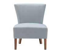 Chairs  - Crawley Duck Egg Blue Linen Fabric Bedroom Chair