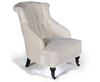 Darnley Antique White Velvet Fireside Chair