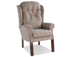 Denton High Back Fireside Chair Lotus Blossom Medium Oak