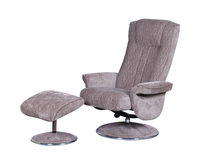 Armchairs  - Dolan Fudge Velour Fabric Swivel Chair and Foot Stool chair and stool