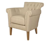 Armchairs  - Dollis Beige Fabric Armchair