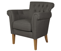 Armchairs  - Dollis Charcoal Fabric Armchair