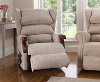 Armchairs  - Donna Award Dual Motor Upholstered Rise and Recline Chair Lotus Blossom Medium Oak