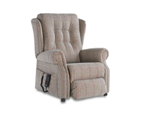 Armchairs  - Donna Luxury Dual Motor Upholstered Rise and Recline Chair Lotus Blossom