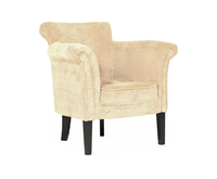 Emma Mink Fabric Occasional Chair