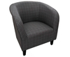 Armchairs Hilda Graphite Scottish Plaid Upholstered Tub Chair *Special Offer*