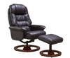 Armchairs Jeremiah Red Wine Bonded Leather Swivel Chair and Foot Stool chair and stool