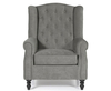 Kinross Grey Fabric Fireside Arm Chair