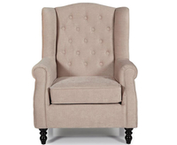 Kinross Mink Fabric Fireside Arm Chair