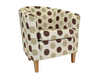 Panda Dolce Brown Tub Chair light wooden legs