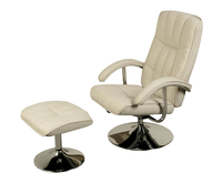 Armchairs  - Portland Beige Linen Swivel Chair and Footstool chair and stool