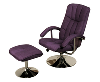 Armchairs  - Portland Purple Linen Swivel Chair and Footstool chair and stool