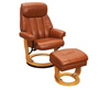 Radford Tan Bonded Leather Swivel Chair and Foot Stool tan chair and stool