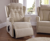 Regis Upholstered Rise and Recline Chair Cotswold Beige