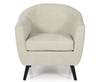 Sydney Mink Upholstered Tub Chair
